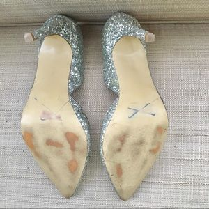 Express Shoes - Express D'Orsay Glitter Pump